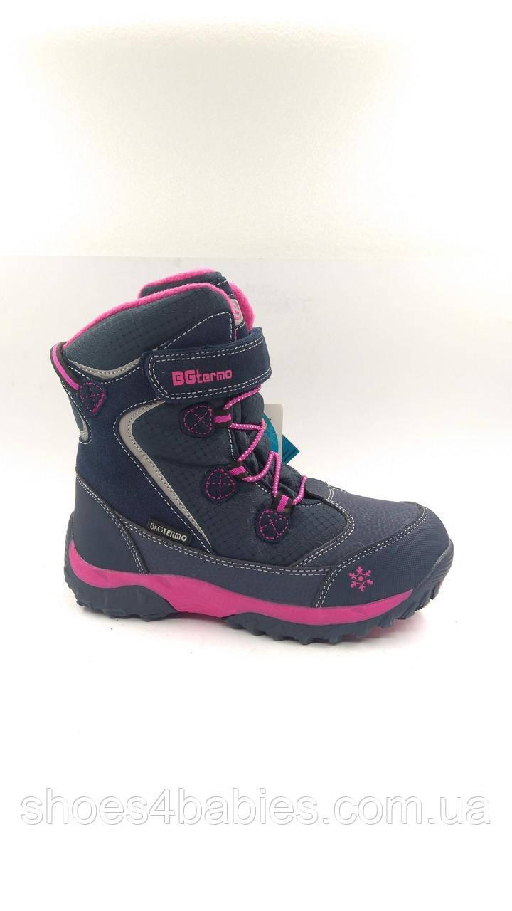 Детские зимние термо ботинки B&G termo 191-1211N,  р. 37 - 23,6см
