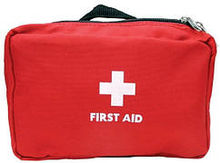 Домашняя аптечка-органайзер для хранения лекарств и таблеток First Aid Pouch Large Красный
