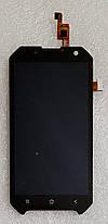 Модуль (сенсор+дисплей) для Blackview BV6000 чорний, фото 3