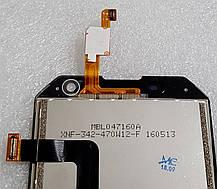 Модуль (сенсор+дисплей) для Blackview BV6000 чорний, фото 2