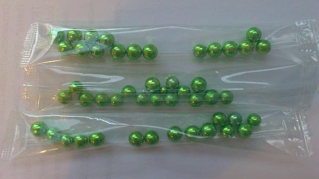 Посипка Шарики салатовые 4мм 4г. Галетте - 00552