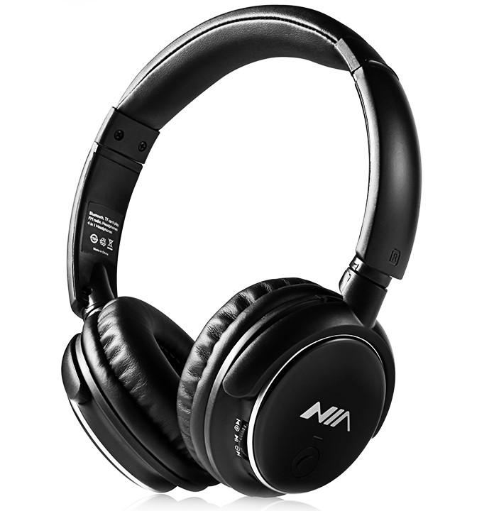 NIA Q1 Беспроводные Bluetooth наушники с МР3 и FM