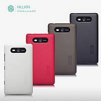 Чехол для Nokia Lumia 820 - Nillkin Super Frosted Shield (пленка в комплекте)