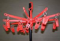 Вертушка торговая с прищепками , диаметр 500 мм разные цвета   , фото 1