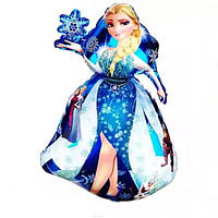 Шар Воздушный Фольгированный Шарик Надувной Фигура принцесса Эльза 90см  Шары MK 1332