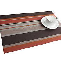 Подставки под тарелки на кухонный стол, сервировочные коврики, 6 шт коричнево-оранжевые
