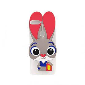 Чехол накладка для Huawei Y7 Prime 2018 LDN-L21 силиконовый Зверополис, Крольчика Джуди