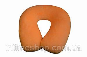 Подушка-подголовник для перелета Memory Foam Travel Pillow - Оранжевая, с доставкой по Киеву и Украине