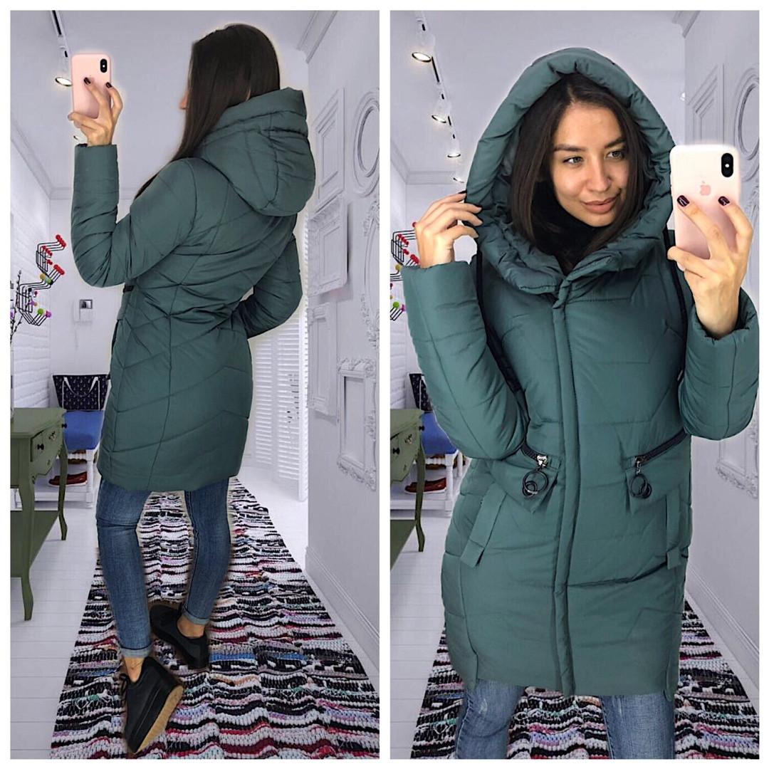 Зимняя женская куртка.Теплая удлиненная куртка 42-50  продажа, цена ... b5bf4d4edee