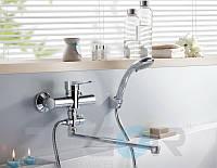 Смеситель для ванны с душем Zegor PUD6 (PUD6-A045) однорычажный с длинным гусаком цвет хром