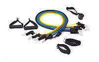 Набор эспандеров трубчатых с ручками для фитнеса и реабилитации, эспандеры Бубновского (5 жгутов)