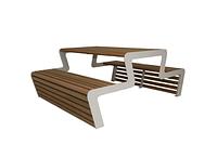 Стол со скамейкой 10000, ЛОФТ для улицы, дома, офиса, ресторана, кафе, гостиниц