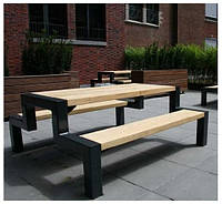 Стол со скамейкой 10001, ЛОФТ для улицы, дома, офиса, ресторана, кафе, гостиниц