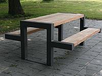 Стол со скамейкой 10003, ЛОФТ для улицы, дома, офиса, ресторана, кафе, гостиниц
