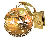 Шоколадные конфеты Zloty Orzech Goplana в елочном шаре (фундук в шоколаде), 187 г.