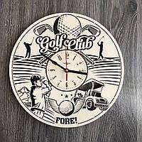 """Настенные деревянные часы handmade """"Активный отдых"""""""