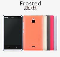 Чехол для Nokia X2 - Nillkin Super Frosted Shield (пленка в комплекте)