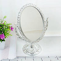 Косметическое двойное зеркало настольное, фото 1