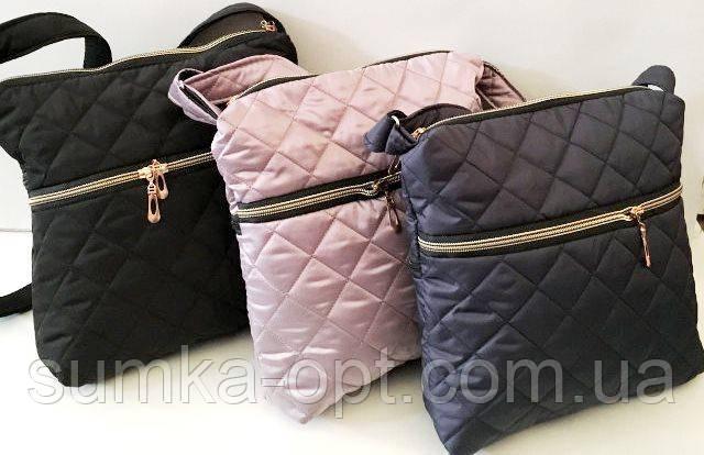 Стьобані жіночі сумки (3 кольори)25*28см
