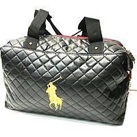 Стеганные женские сумки Polo качество (черный глянец)30*38см, фото 1