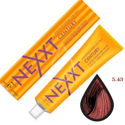 Крем-краска для волос Nexxt Professional 5.43 светлый шатен медно-золотистый 100ml
