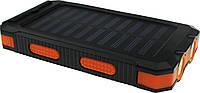 Портативная батарея TOTO TBL-86 Solar Power Bank IP67 2USB 2A 10000 mAh Black/Orange