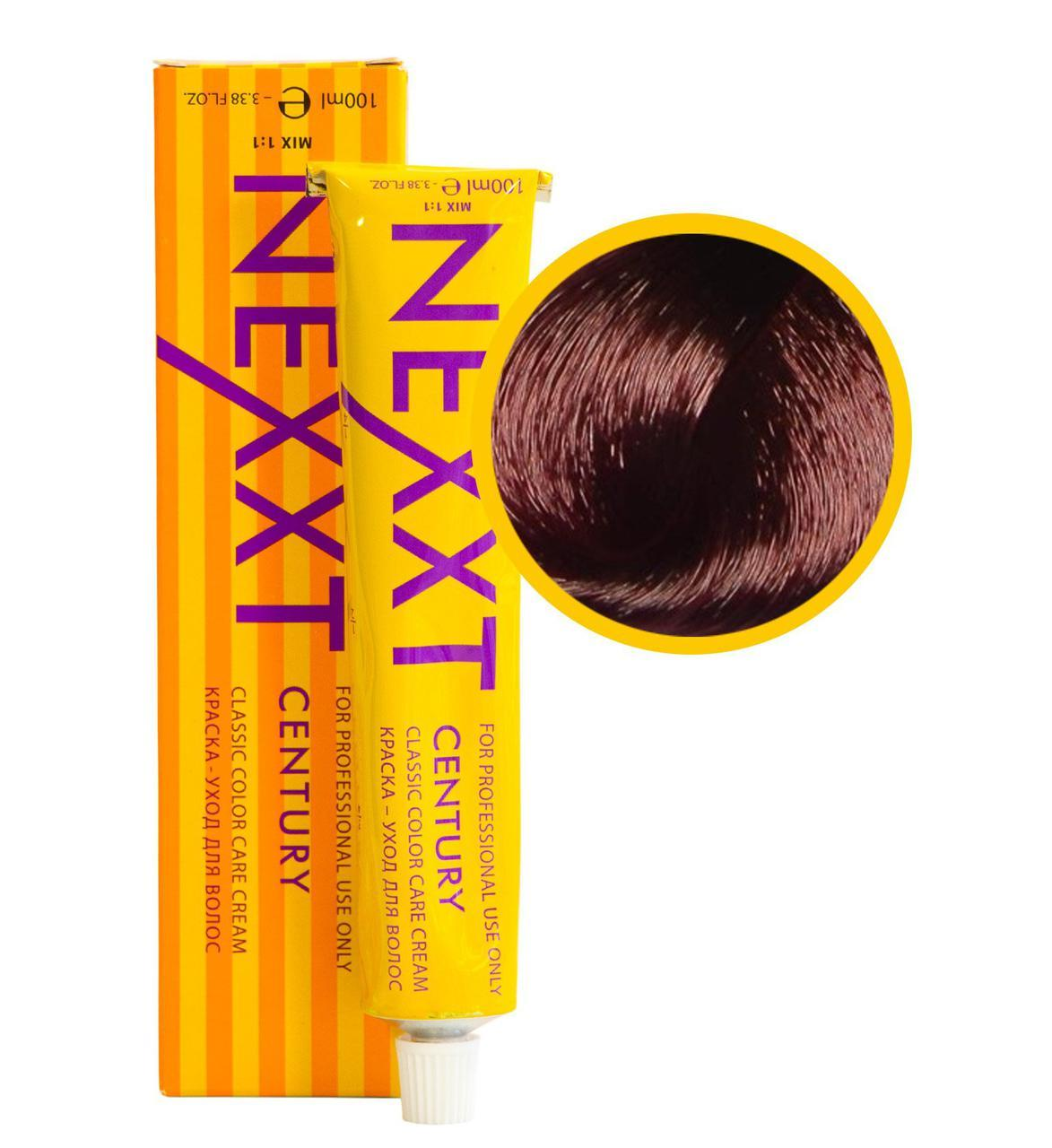 Крем-краска для волос Nexxt Professional 6.65 темно-русый фиолетово-красный 100ml