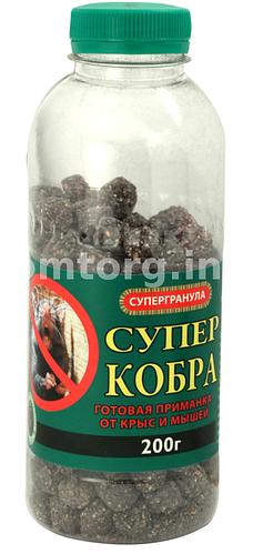 Родентицид Супер Кобра 350г (зерно в банке)