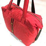 Стеганные женские сумки с полоской GUCCI (красный матовый)26*38см, фото 5