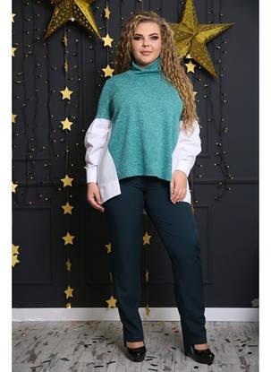 Женская стильная рубашка Матье цвет зеленый / размер 48-72, фото 2