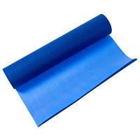 Коврик для фитнеса и йоги двухслойный IronMaster (1,73мx0,61мx6мм, TPE+TC, синий), фото 1