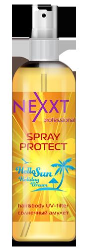 Спрей Солнечный амулет, увлажнение и защита от солнца с УФ-фильтром Nexxt Professional 250ml