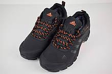Зимние кроссовки, ботинки на меху Adidas Climaproof Low ( Черные / Оранжевые ), фото 2