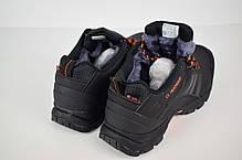 Зимние кроссовки, ботинки на меху Adidas Climaproof Low ( Черные / Оранжевые ), фото 3