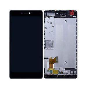Дисплей для Huawei P8 (GRA-L09/GRA-UL00) с тачскрином и рамкой черный Оригинал
