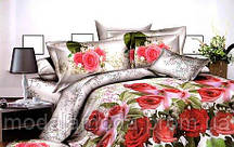 Евро набор постельного белья из Ранфорса  Розы