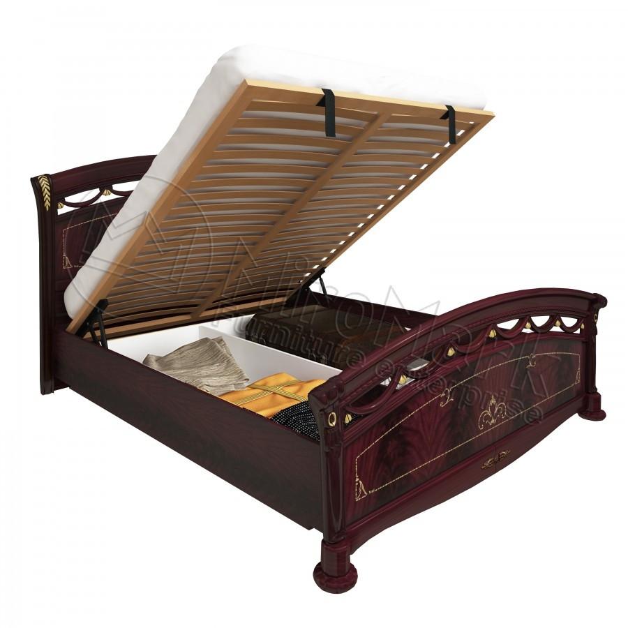 Кровать 160х200 Роселла Люкс с подъемником и каркасом Миро-Марк