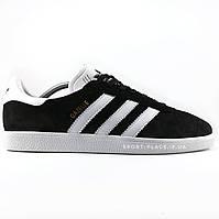 Мужские кроссовки Adidas Gazelle black & white (лицензия)