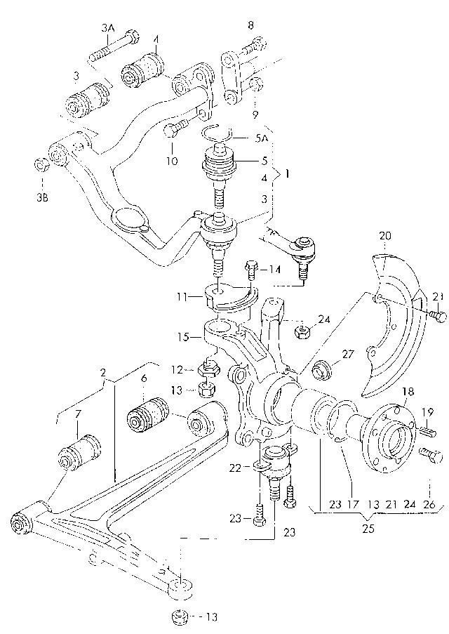 Передняя подвеска фольксваген транспортер т4 схема транспортер т3 ремонт двигателя