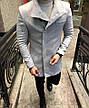 Мужское шерстяное (70%) демисезонное пальто 4 цвета в наличии, фото 5
