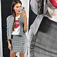 Костюм пиджак и юбка стрейч , фото 2