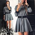 Платье мини на молнии с резинкой на талии , фото 2