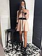 Платье мини на молнии с резинкой на талии , фото 4