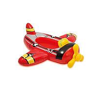 Детский надувной плотик для плавания Intex 59380 «Самолет» 119 х 114 см , фото 1