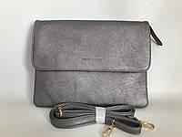 Женская сумка-клатч повседневная Серебристая