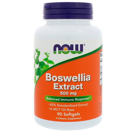 NOW Foods Boswellia Extract 500 mg 90 Softgels, фото 2