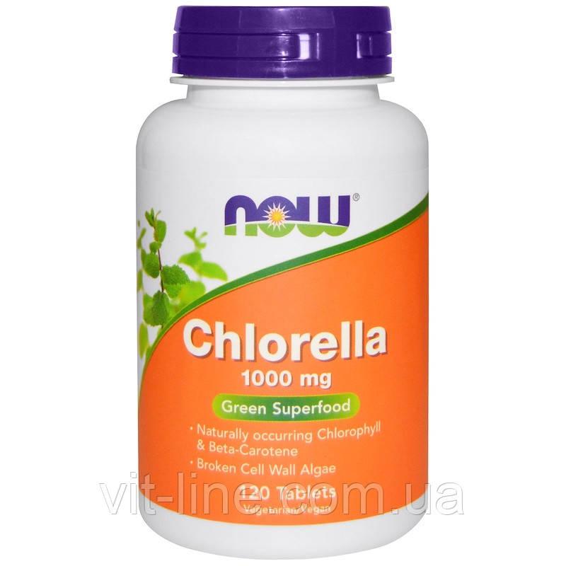 Хлорелла 1000 мг Now Foods 120 таблеток