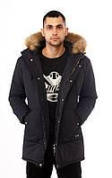 """Мужская зимняя парка   куртка """"North"""", темно-синяя (есть опт), фото 1"""