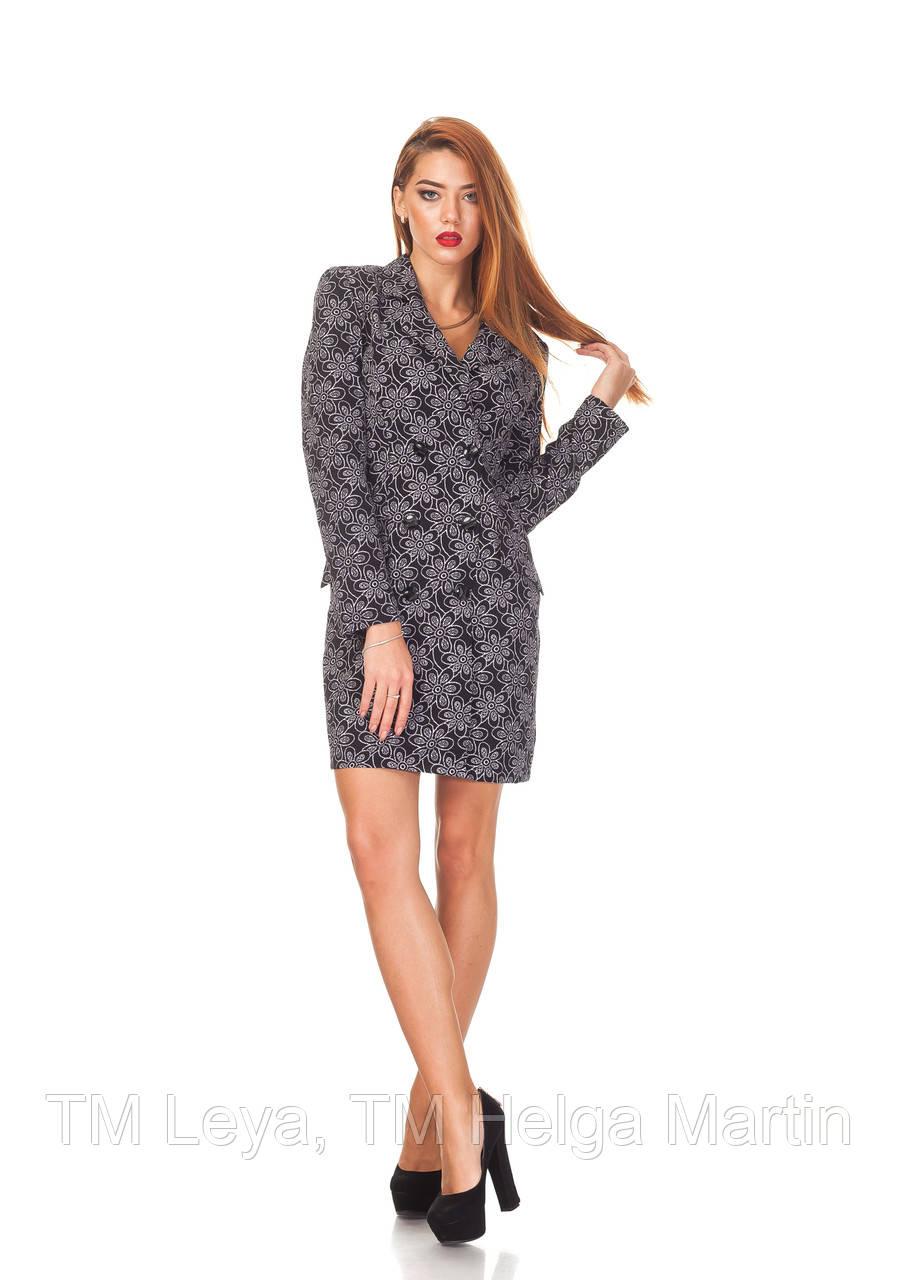 Трендовое платье-пиджак. П129