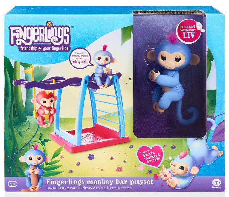 Інтерактивна мавпочка Fingerlings з майданчиком для гри